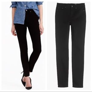 J. Crew 9 Inch High-Rise Toothpick Jeans in Black